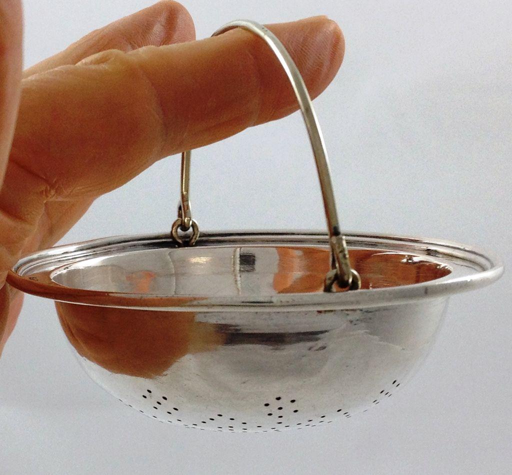 Austrian 800 silver teastrainer