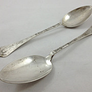 Pair of Danish 826 silver tablespoons