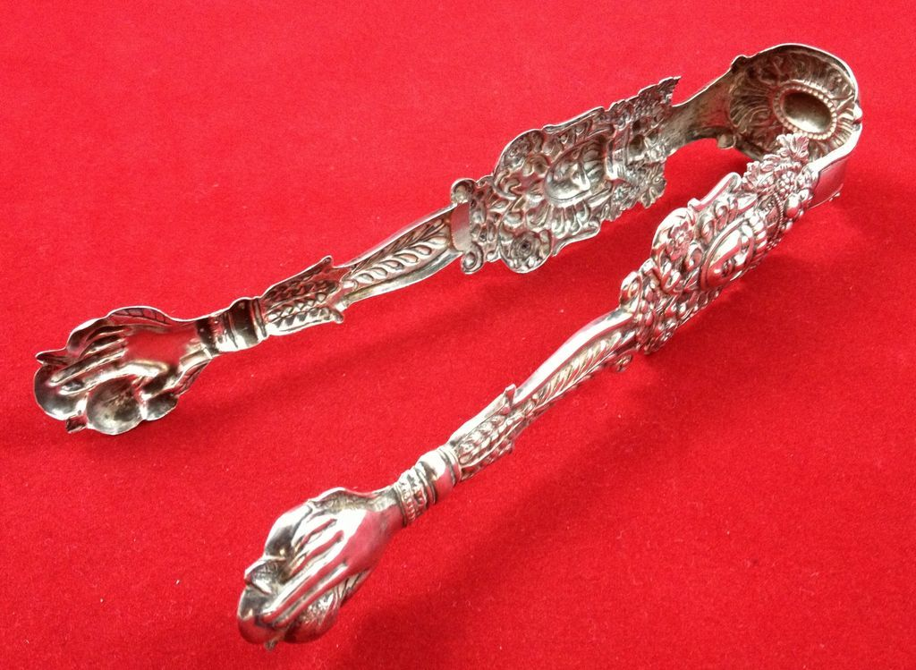 Highly unusual and old German solid silver nips