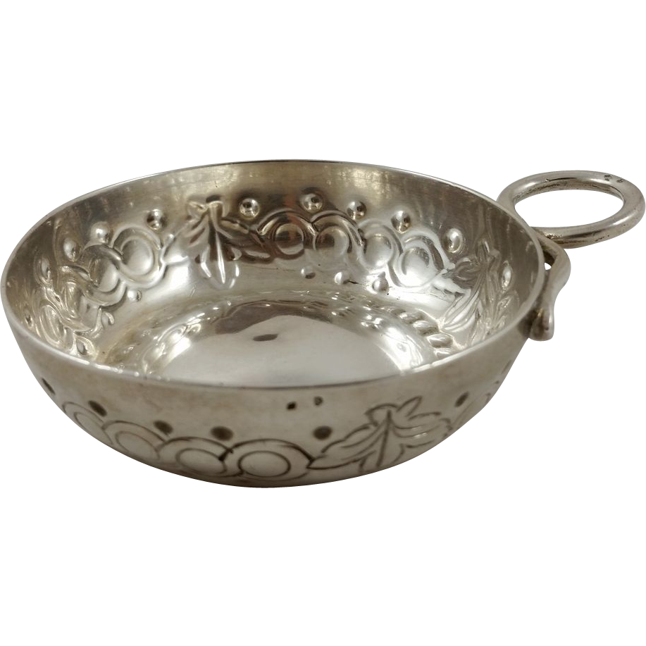 French 950 silver wine taster c. 1795