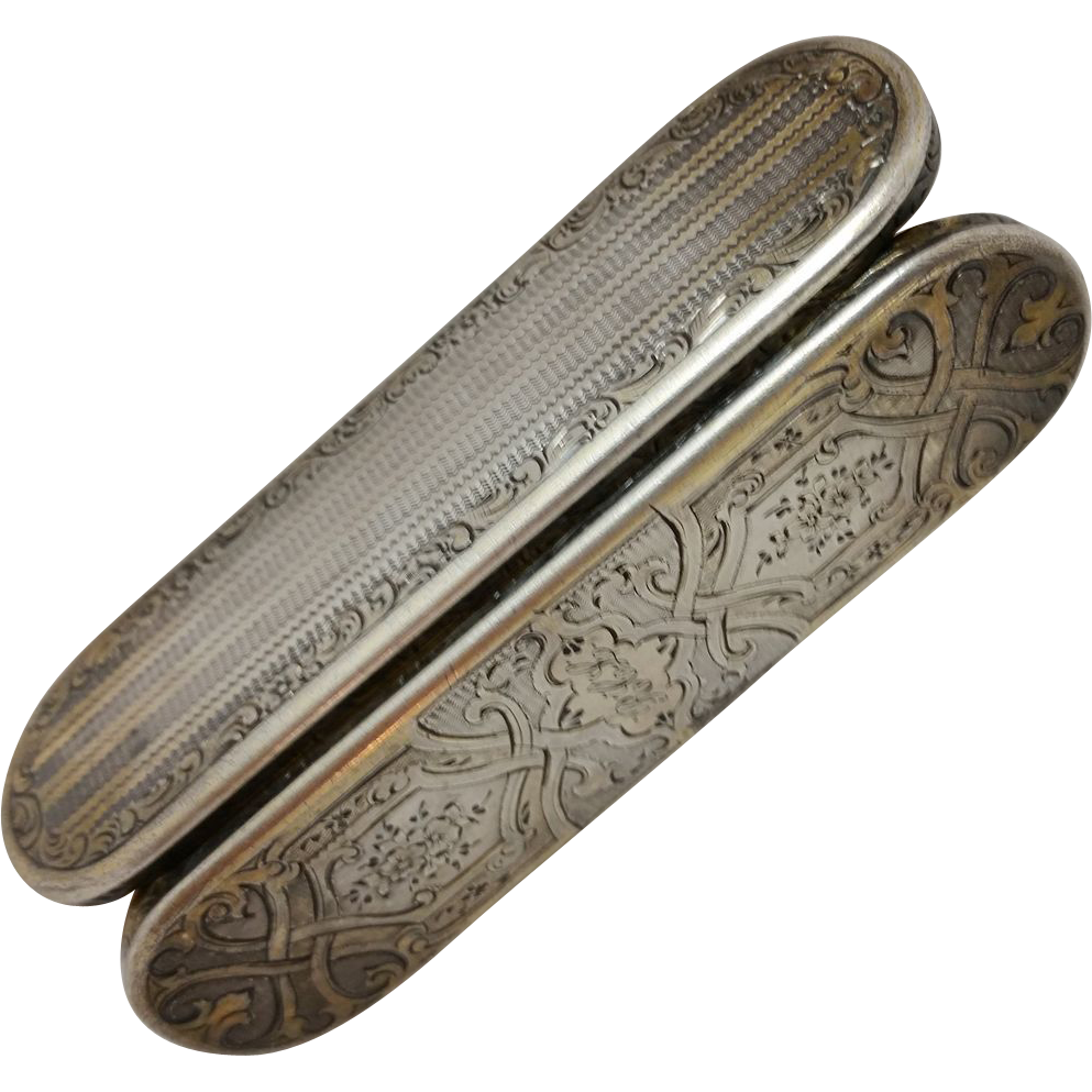 French 800 silver snuff box