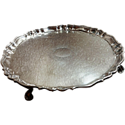 Excellent George II sterling silver tray c. 1734