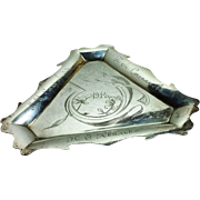 Unusual Russian 875 silver ashtray in Art Nouveau style c. 1914