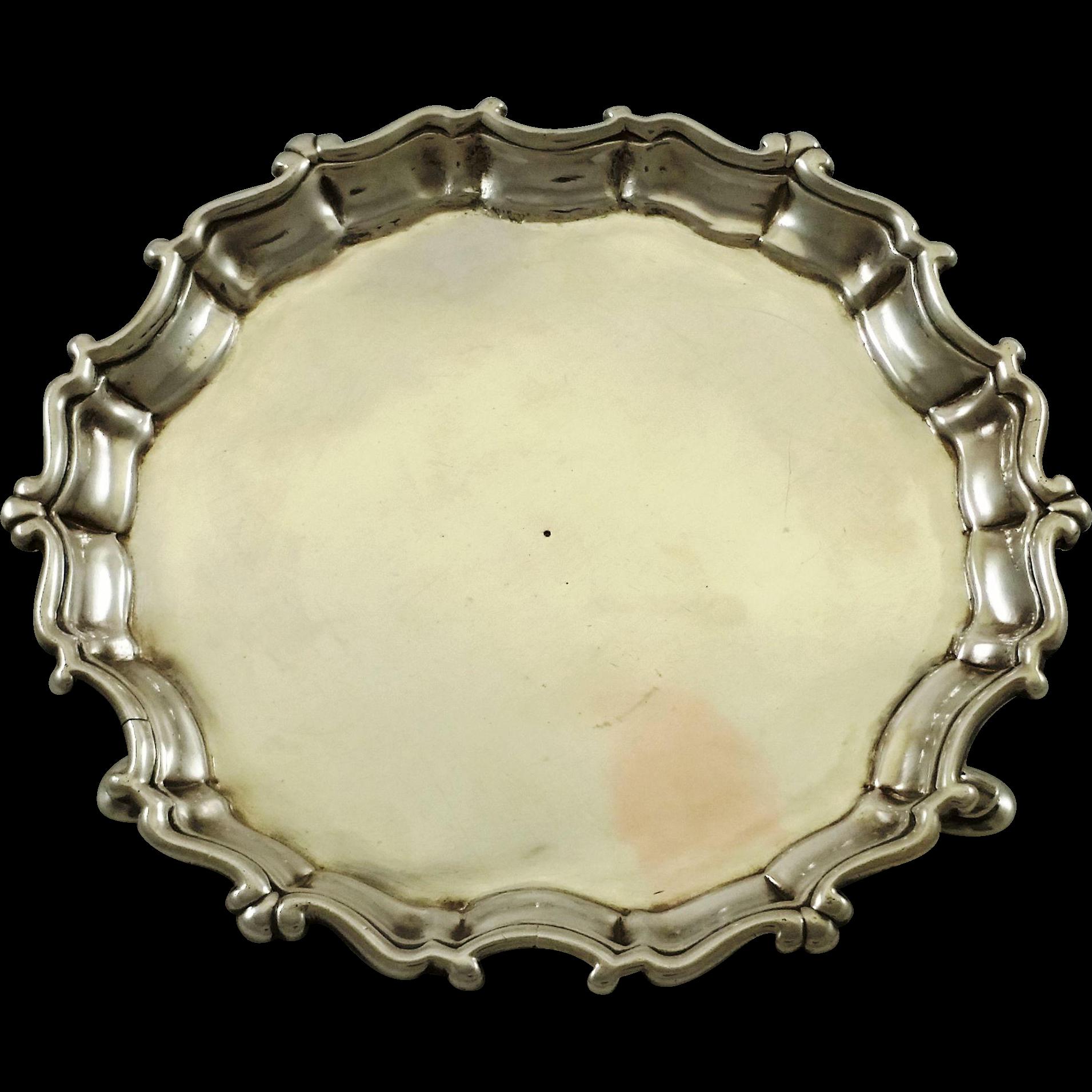 Rare Irish sterling silver salver by B. Mosse c. 1750