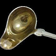 Huge German 800 silver compote ladle