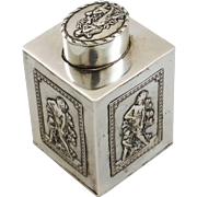 Beautiful 800 silver tea caddy, probably Austrian