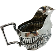 Hanau 800 silver creamer with medallions by Georg Roth & Co