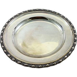 Large and heavy German 800 silver tray, over 38 oz