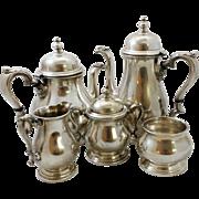 Massive 5-piece sterling silver coffee set by International