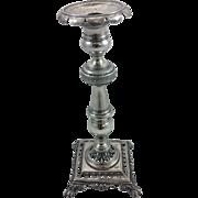 Rare Brazilian solid silver candlestick c. 1850s