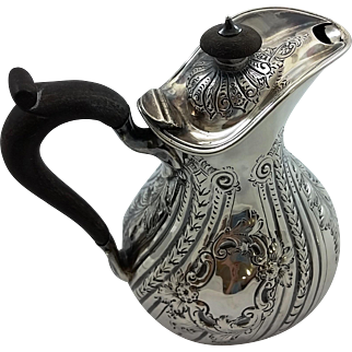 English sterling silver milk jug by Martin, Hall & Co c. 1888