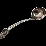 Gorham Medallion sterling soup ladle made for Tiffany