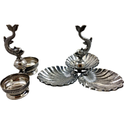 Beautiful Spanish 915 silver set of two dishes