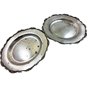 Pair of Italian 800 silver heavy plates or chargers