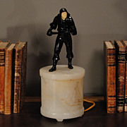 Italian Pirate Figural on Alabaster Base