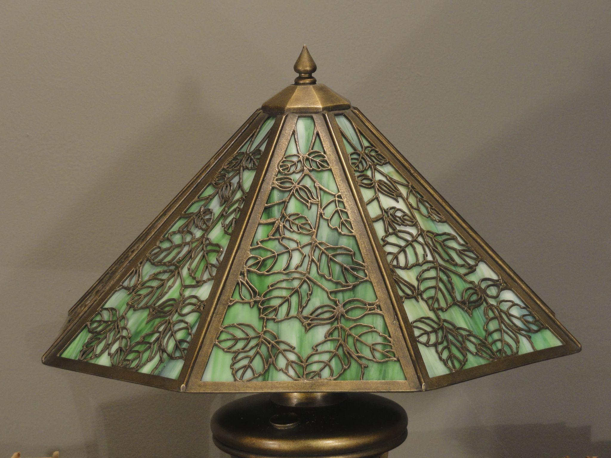 Fabulous Early Bradley Amp Hubbard Art Nouveau Slag Glass