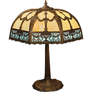Very Large, Beautifully Ornate Miller Double Slag Glass Lamp