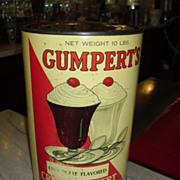 Old Gumpert's Soda Fountain Ice Cream Parlor Advertising Tin