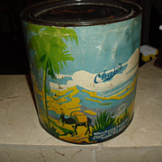 1920's Chase Candy Company Advertising Tin / Candy Cop