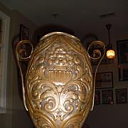 Lovely Large Hand Tooled Brass Urn / Vase