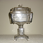 EAPG Square Compote by Adams Glass Company circa 1883