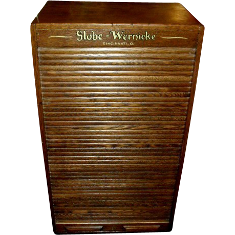 Globe Wernicke General Store Roll Top Oak Cabinet w/ 24 Drawers ...