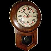 Coca Cola Coke Clock made by Waterbury Clock Company circa 1920