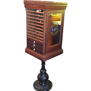 Fantastic 1880s Clarks floor model  13 drawer spool cabinet