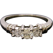 Timeless Platinum Diamond Three Stone Engagement Ring