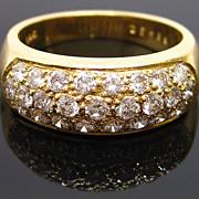 18K Gold Diamond Pave Band Ring