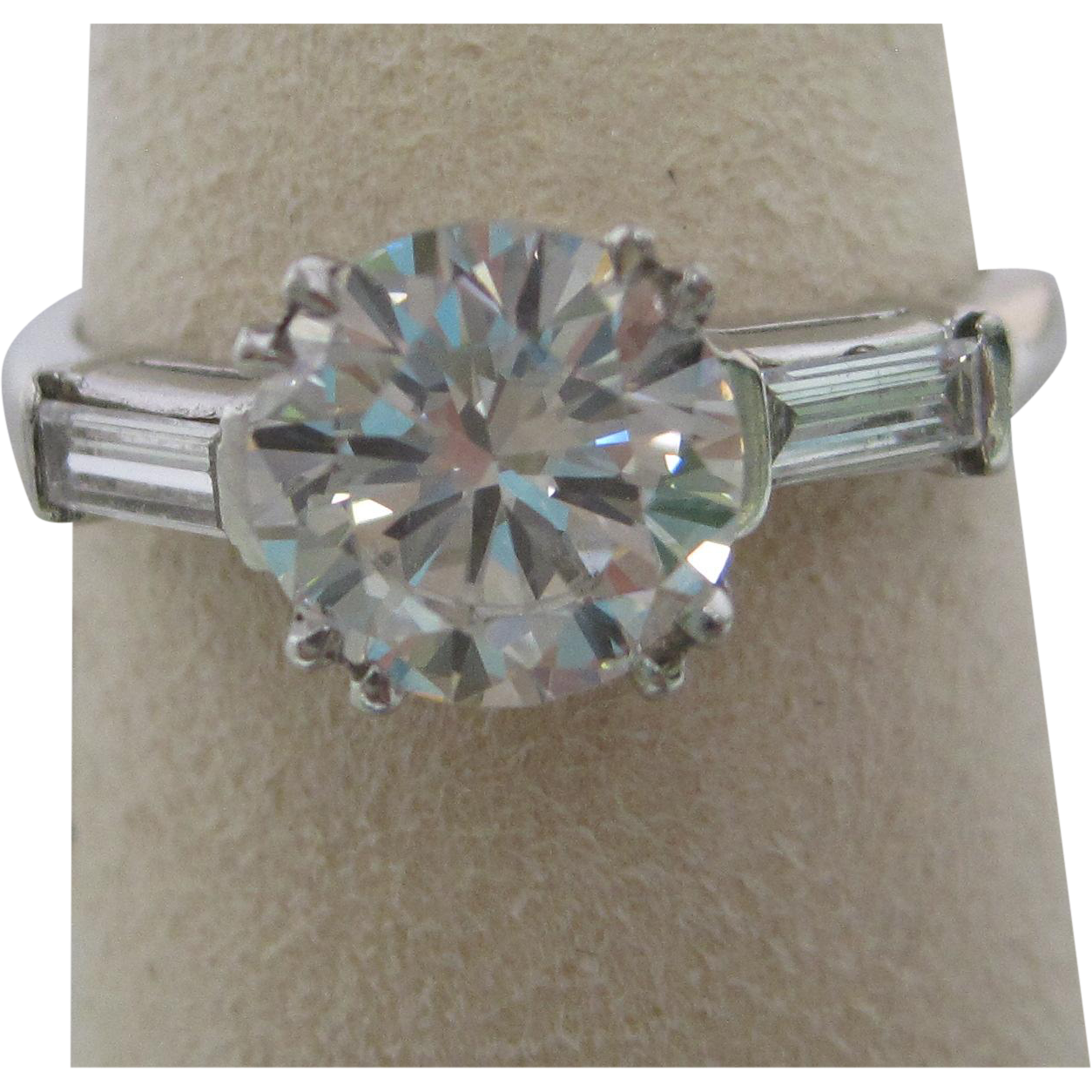 1.54 ct. Diamond Platinum Engagement Ring