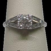 Art Deco 0.55 ct. Diamond Engagement Ring In Platinum