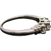 Timeless Platinum Diamond Three Stone Engagement Ring