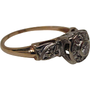 Diamond 14 Karat Gold Engagement Ring