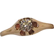Victorian Diamond 14 Karat Gold Ring