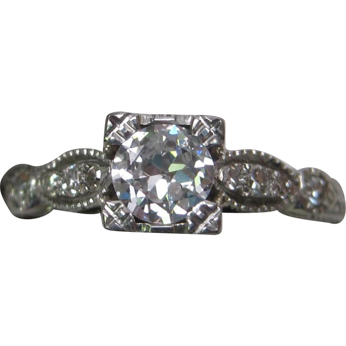 18K Art Deco Diamond Ring