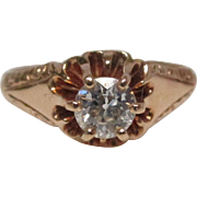 Victorian Diamond 14 Karat Gold Ring, circa 1900