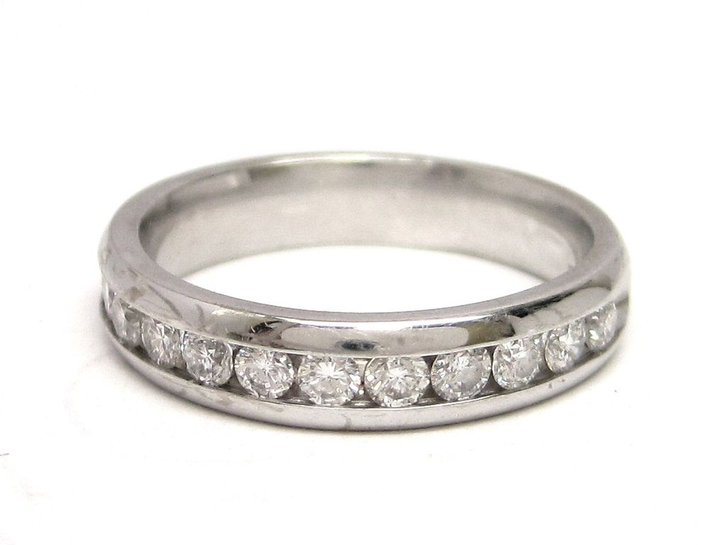 Diamond 14K White Gold Wedding or Anniversary Band Ring