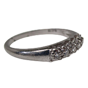 Platinum Diamond Wedding Anniversary Band