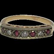 Ruby Diamond 14 Karat Gold Ring