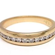 Diamond 14K Gold Wedding or Anniversary Band Ring