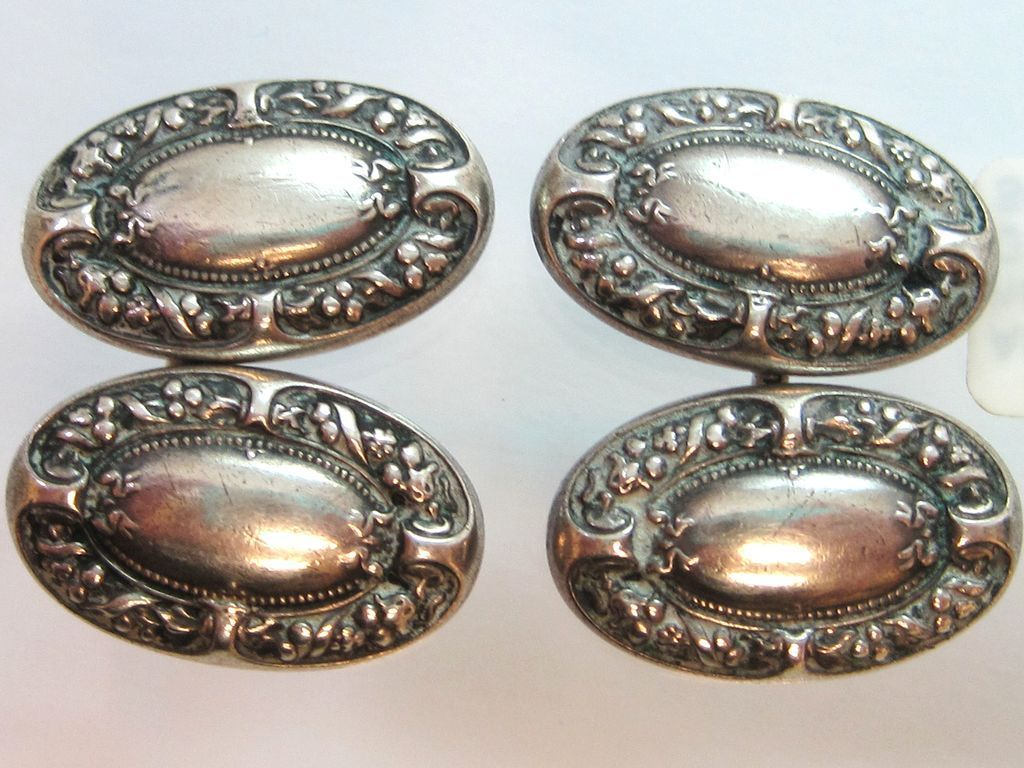 art nouveau sterling silver cufflinks by gorham hallmarked from stjohnandmyers on ruby lane