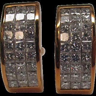 18 Karat Gold Diamond Earrings