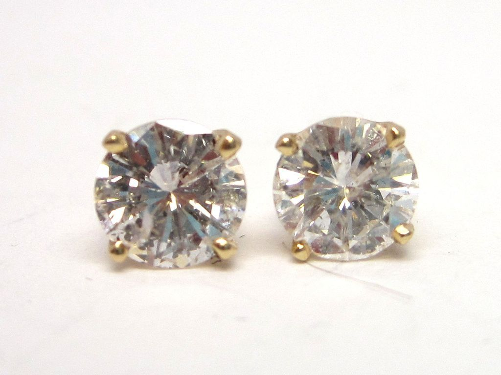 1.50cttw Diamond 14K Gold Stud Earrings