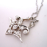 Art Deco Platinum Diamond Necklace