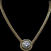 Diamond 18 Karat Gold Platinum Necklace