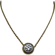 Diamond 18 Karat Gold Platinum Necklace