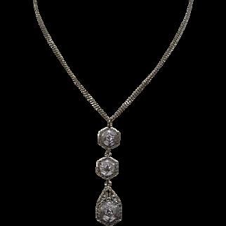 Art Deco Diamond Gold Necklace