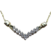 14 Karat Gold Diamond Necklace