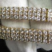 14K Yellow Gold 5 Ct.  total wgt.  Diamond Bracelet